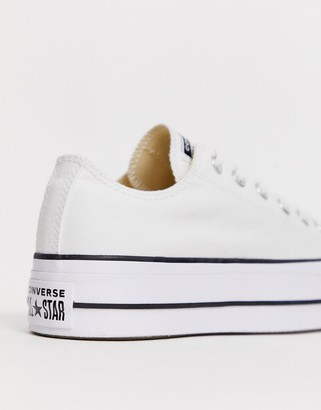 Converse Chuck Taylor Ox platform white trainers