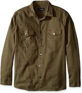 Brixton Men's Nevada Standard Fit Long Sleeve Canvas Shirt Jacket