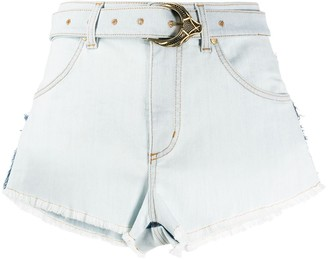 Roberto Cavalli High-Waisted Denim Shorts