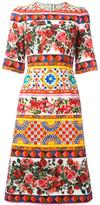 Dolce & Gabbana Mambo print flared dress - women - Cotton/Spandex/Elastane - 38