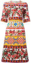 Dolce & Gabbana Mambo print flared dress
