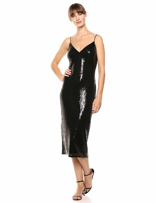 SHO Women's SLVLESS Sequin MIDI Dress