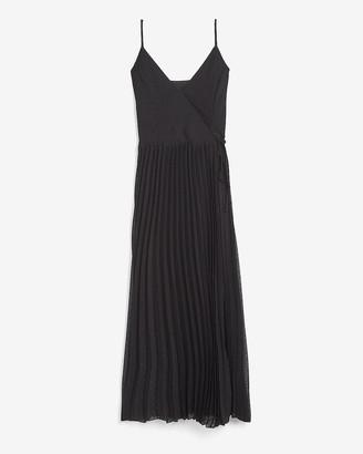 Express Pleated Midi Wrap Dress