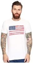 Original Retro Brand The American Flag Short Sleeve Slub Tee (White) Men's T Shirt