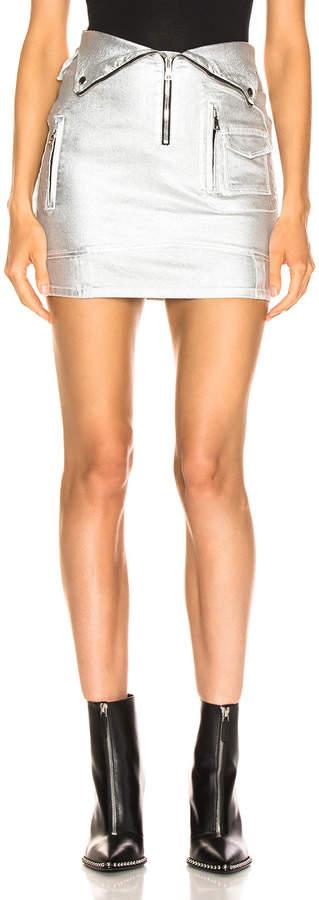 RtA Gisele Skirt in Sound Silver | FWRD