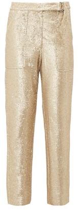 Jonathan Simkhai Sequin Tailored Trousers - Womens - Gold