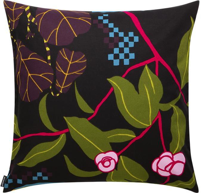 "Marimekko Ikkunaprinssi Black and Green 20"" Pillow"