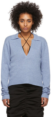 Georgia Alice Blue Open Polo Sweater