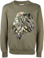 Palm Angels embroidered lion sweatshirt