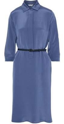 Max Mara Belted Washed-silk Shirt Dress