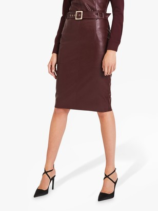 Damsel in a Dress Maeve Faux Leather Pencil Skirt, Port