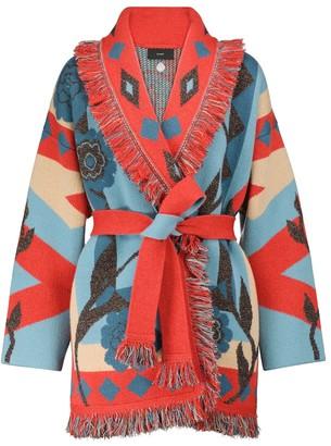 Alanui Desert Bloom cashmere and linen cardigan