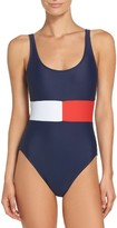 Tommy Hilfiger Women's Flag One-Piece Swimsuit
