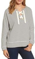 Vineyard Vines Women's Bateau Neck Lace-Up Pullover