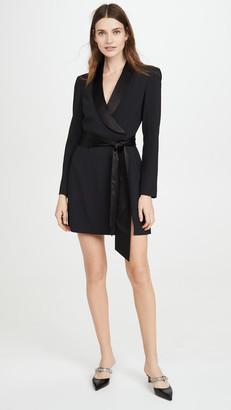 Alice + Olivia Mona Straight Shoulder Suit Dress