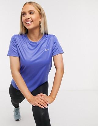 Nike Training Nike Running miler t-shirt in purple