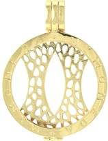 Mi Moneda gold-plated carrier pendant - large