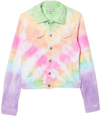 Tractr Denim Tie Dye Jacket