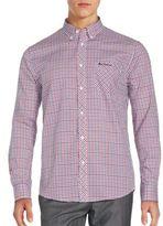 Ben Sherman Cotton Blend Checkered Long Sleeve Shirt