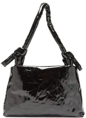 Kassl Editions Lady Knotted-handle Lacquered-leather Bag - Black