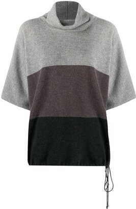 Fabiana Filippi Colour-Block Funnel Neck Jumper