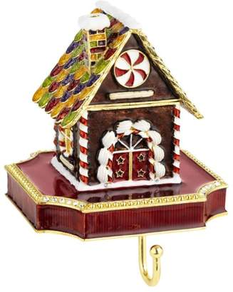 Gingerbread House Pewter Stocking Holder