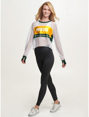 Tommy Hilfiger Green Bay Packers Mesh Crop Top