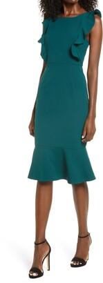 Lulus Hearts Aflutter Ruffled Body-Con Dress