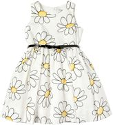 MonnaLisa Daisy Printed Cotton Poplin Dress