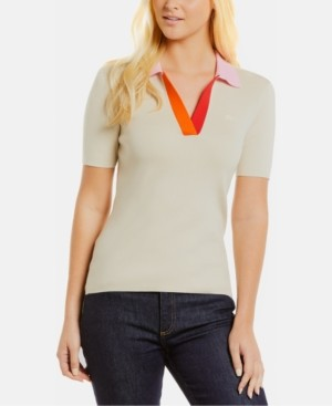 Lacoste Colorblocked-Collar Top