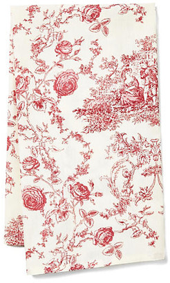 Maison Du Linge Princesse Tea Towel - Ecru/Berry