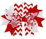 FEITONG Baby Girls Bowknot Hairpin Headdress (Red)