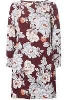 Dorothy Perkins Womens Burgundy Floral Shift Dress