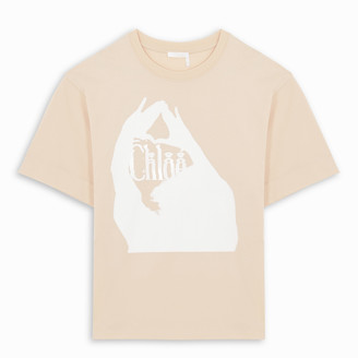 Chloé Pink t-shirt with logo