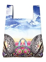 Manish Arora Printed Grained Leather Top Handle Bag