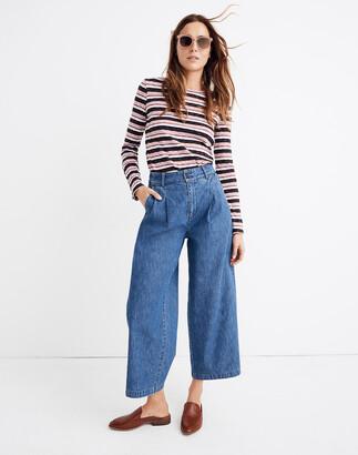 Madewell Petite Pleated Wide-Leg Jeans