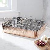 Crate & Barrel Fleischer and Wolf Seville Hammered Tri-Ply Copper Roaster