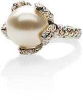 St. John Pearl & Swarovski Crystal Cocktail Ring