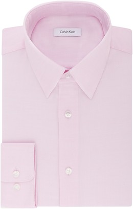 Calvin Klein Men's Dress Shirt Regular Fit Non Iron Stretch Solid