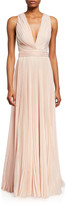 ZUHAIR MURAD Marylin Plisse Sleeveless Gown