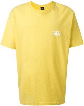 Stussy basic logo print T-shirt