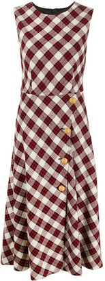 Boutique Moschino Sleeveless Check-Print Dress