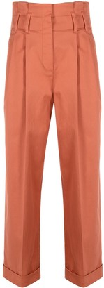 Brunello Cucinelli Cropped Straight-Leg Trousers