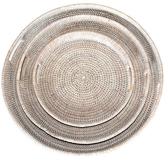 One Kings Lane Asst. of 3 Galway Decorative Trays - Whitewash