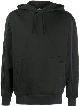 Stone Island Shadow Project Contrast-Trim Hooded Sweatshirt