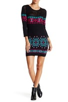 Flying Tomato Printed Bodycon Sweater Dress