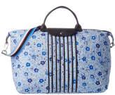 Longchamp Le Pliage Fleuri Large Nylon Travel Bag