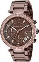 Michael Kors Women's Quartz Stainless Steel Automatic Watch, Color: (Model: MK6378)