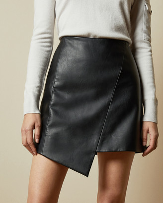 Ted Baker OOLIVE Asymmetric faux leather skirt