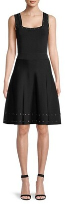 Milly Grommet Fit--Flare Dress